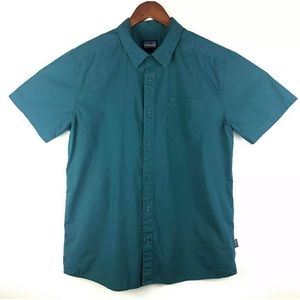 Patagonia Button Front Blue Short Sleeve Shirt